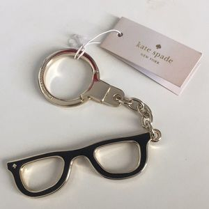 Kate Spade lookout glasses keychain